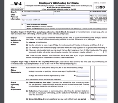 How to Fill Out the New W4 Tax Form in 2020 & Should you extend?